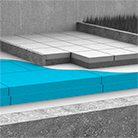 Inverted roof RAVATHERM XPS high performance polystyrene thermal insulation