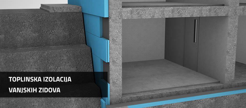 Toplinska izolacija vanjskih zidova | Ravatherm XPS